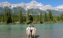Image: In his spare time, Barry McCook, MD, enjoys fly fishing, especially for trout. In this picture, he