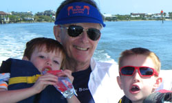 Image: Dr. Joseph Tepas with some of his grandchildren.