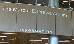Image: The atrium at UF Health North has been named after Drewa, who recently made a significant donation to the medical office complex.