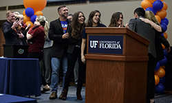 Image: University of Florida medical school students celebrate during Match Day after finding out where they will complete their residencies.