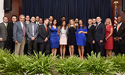 Image: Internal medicine residents gather for a group photo during Celebration of Education on June 14.