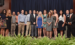Image: Pediatric residents gather for a group photo during Celebration of Education on June 14.