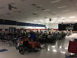 Image: Around 60 patients and 125 of their relatives stayed at the Oceanway Middle School special-needs shelter during Hurricane Irma.