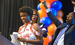 Image: Graduating medical students celebrate during Match Day, when they found out where they will complete their residencies. UF COMJ will welcome nearly 100 new resident physicians to campus.