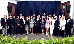 Image: Internal medicine resident physicians, along with program and UF COMJ leaders, gather for a photo during Celebration of Education.