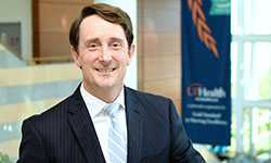 Image: Alexander Parker, PhD, is the senior associate dean for research at the UF College of Medicine – Jacksonville. He is also director of precision medicine at UF Health Jacksonville.