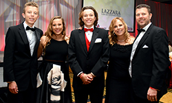 Image: Pictured, from left, are the Hemmen family: Nolan, Sarah, Chris, Pam and Geoff.