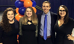 Image: Shelby Goicochea, second from left, celebrates with other UF students during Match Day. Goicochea is heading to UF COMJ, where she will train in the psychiatry residency program.