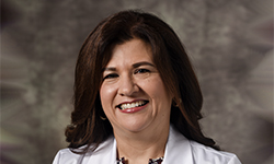 Image: Victoria Array, MD, a pediatrician at UF Health Family Medicine and Pediatrics – Nocatee, is among the many UF Health providers using Virtual Visit to see patients.